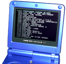 Gameboy Advance multicart menu